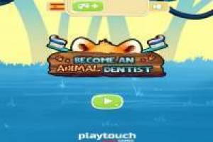 Funny animal dentist